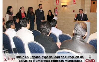 Inició en España especialidad en Dirección de Servicios y Empresas Públicas Municipales