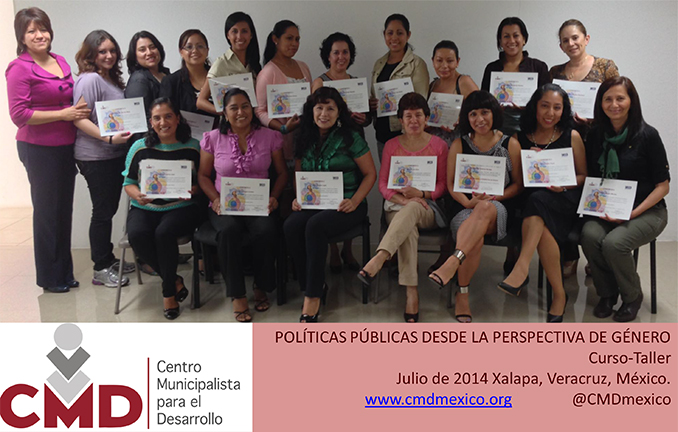 """Realiza CMD-México exitosamente el taller """"Políticas Públicas desde la Perspectiva de Género"""""""