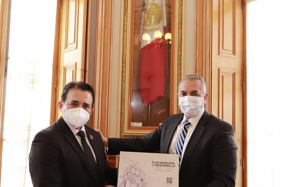 Reunión de alto nivel entre el Alcalde de Pachuca y el Presidente del CMD